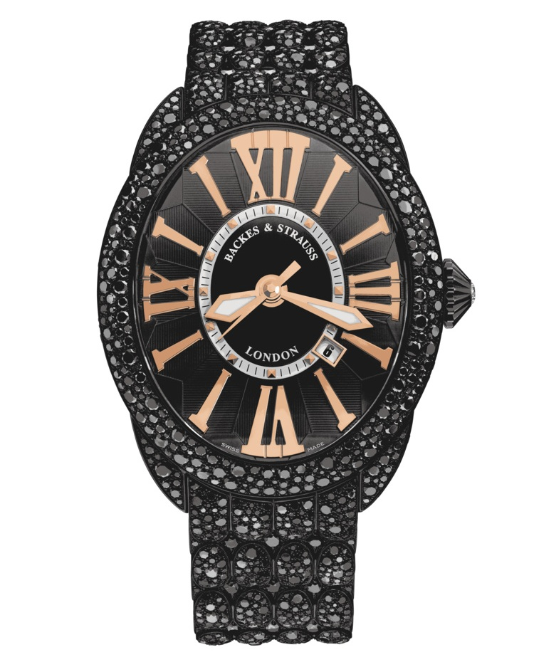 Regent Royal Black Knight masterpiece diamond encrusted watch for him and her
