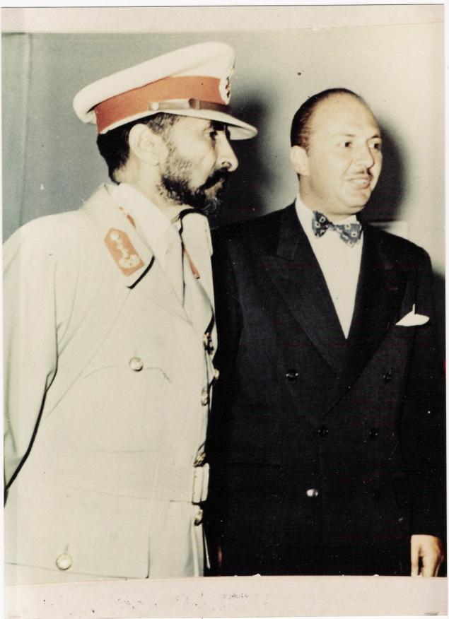 Antranig with Emperor Haile Selassie