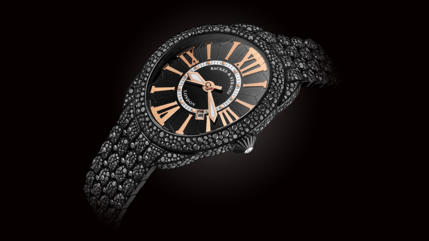 Regent+Royal+Black+Knight+black+diamond+watch