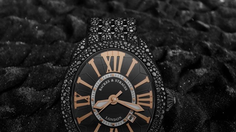 Royal Black Knight Diamond Watch for Him