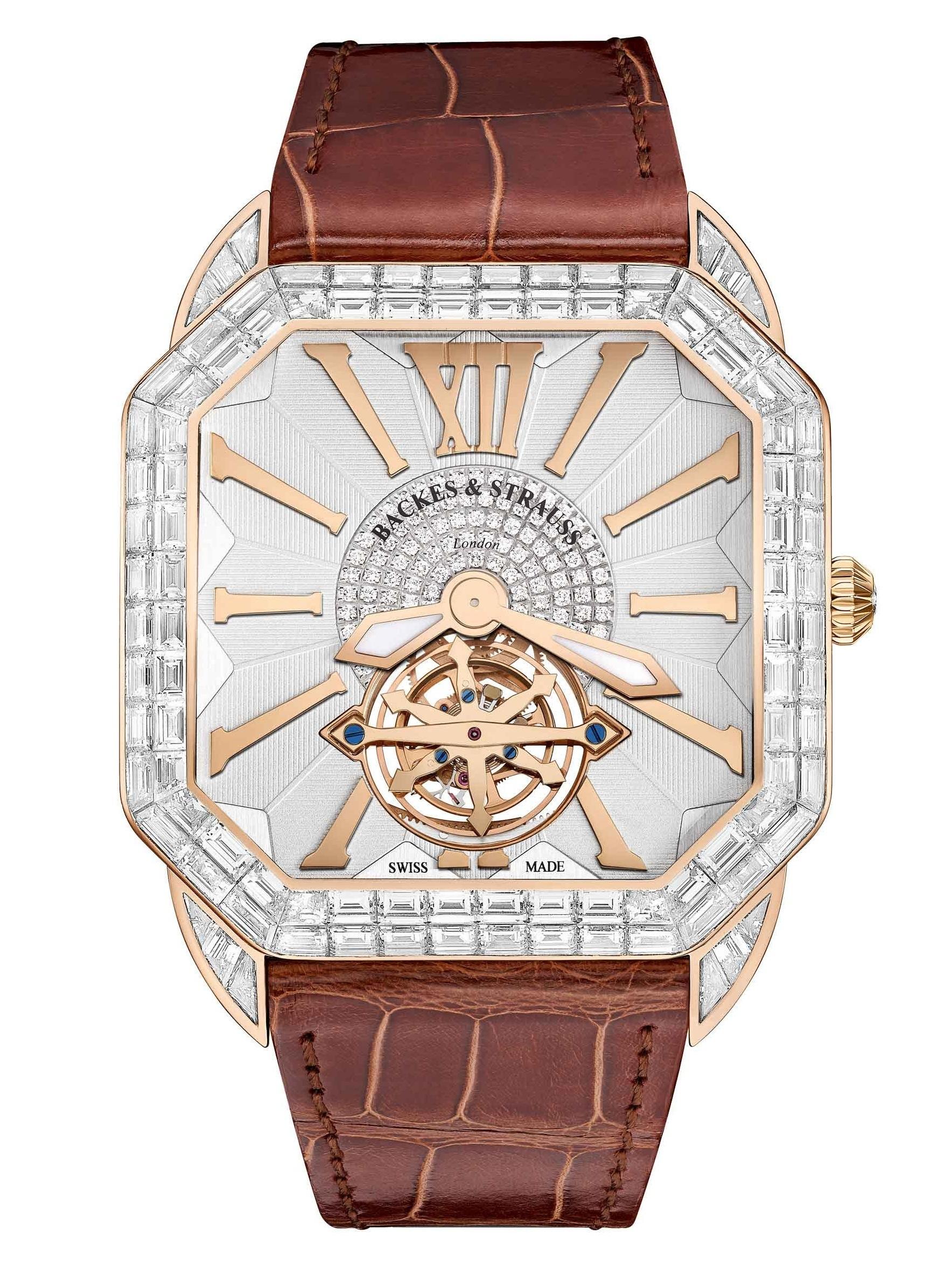Berkeley Renaissance Duke Tourbillon Baguette diamond watch for men and women