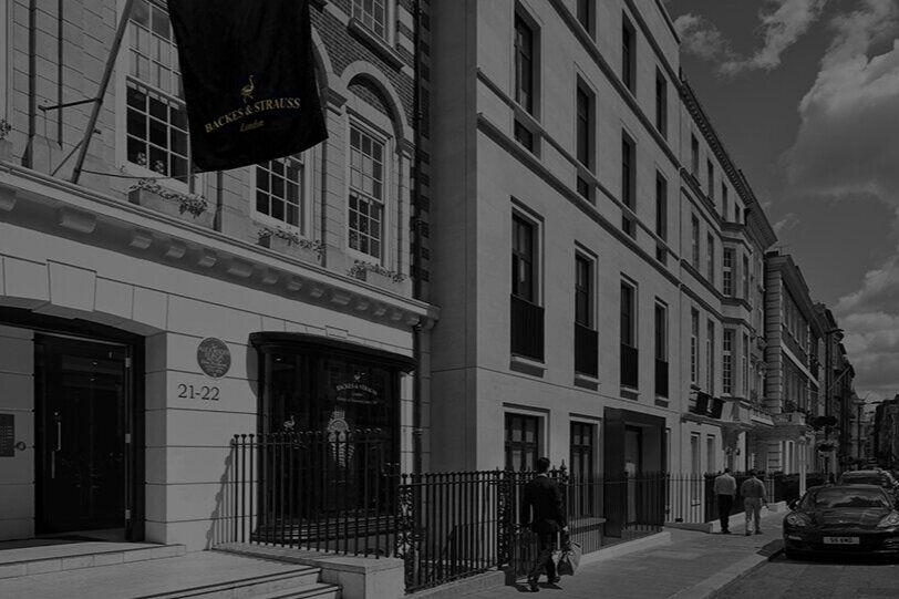 Our FLAGSHIP boutique - We welcome you to the House of Backes & Strauss at 21-22 Grosvenor Street, Mayfair, London W1K 4QJ