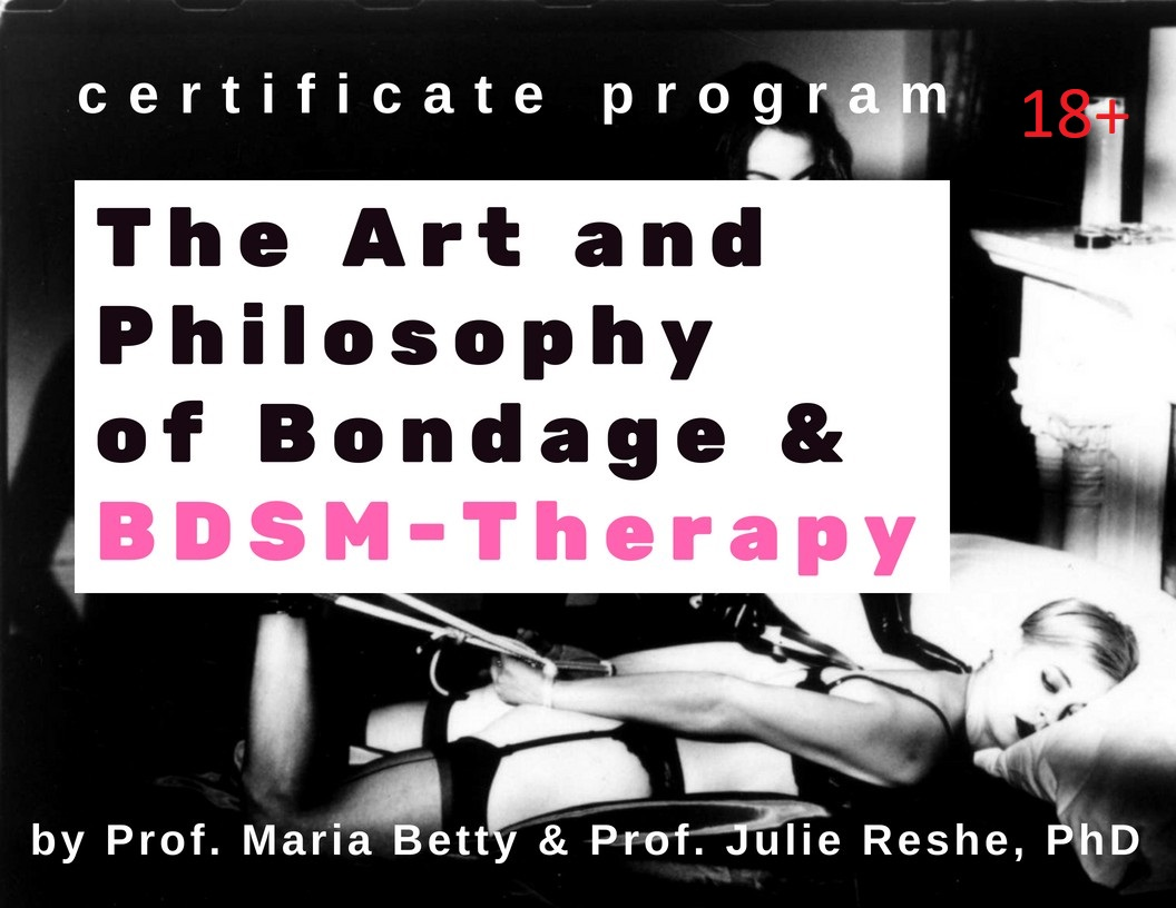 Four modules: - 1.Theory and Practice of BDSM Therapy: An Integrative Approach [4 seminars]2. Queering BDSM through the Art of Maria Beatty [3 seminars]3. The Painful State of Bliss [3 seminars]4. Violent Tenderness [4 seminars]