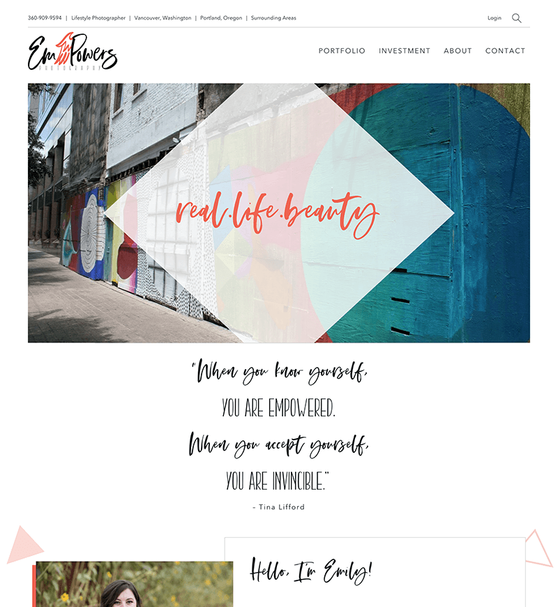 EmPowers Photography Shopify Website Design   eWagner Consulting   Boise, Idaho