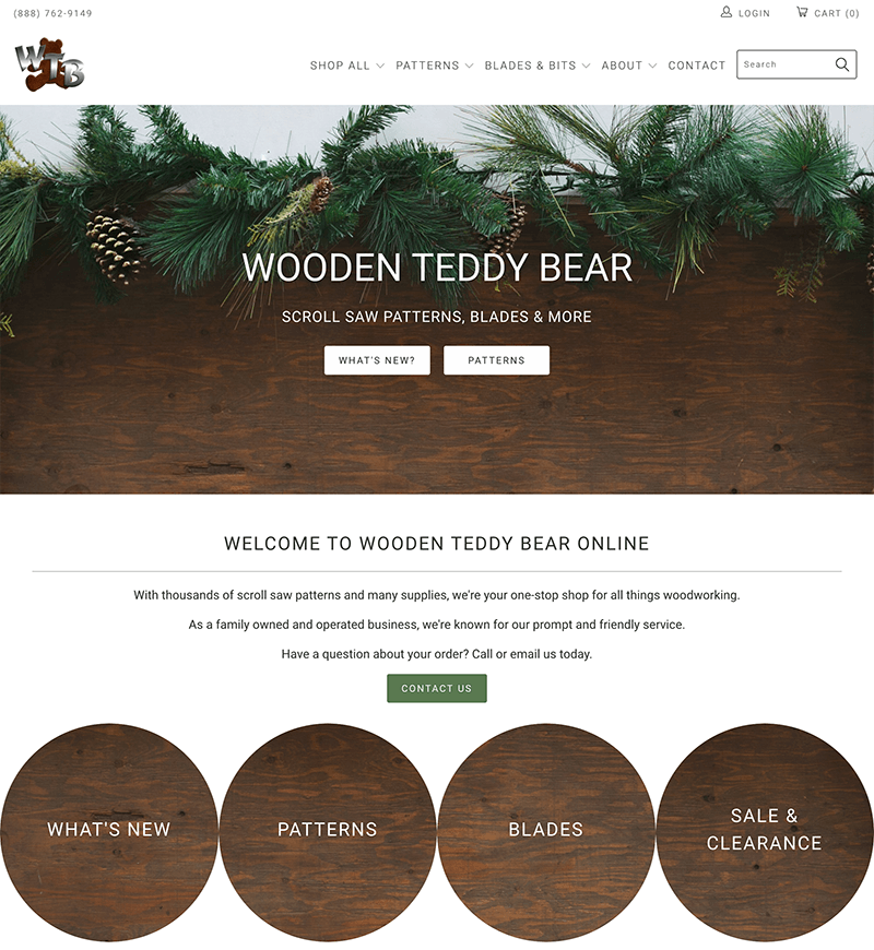 Wooden Teddy Bear Shopify Website Design   eWagner Consulting   Boise, Idaho