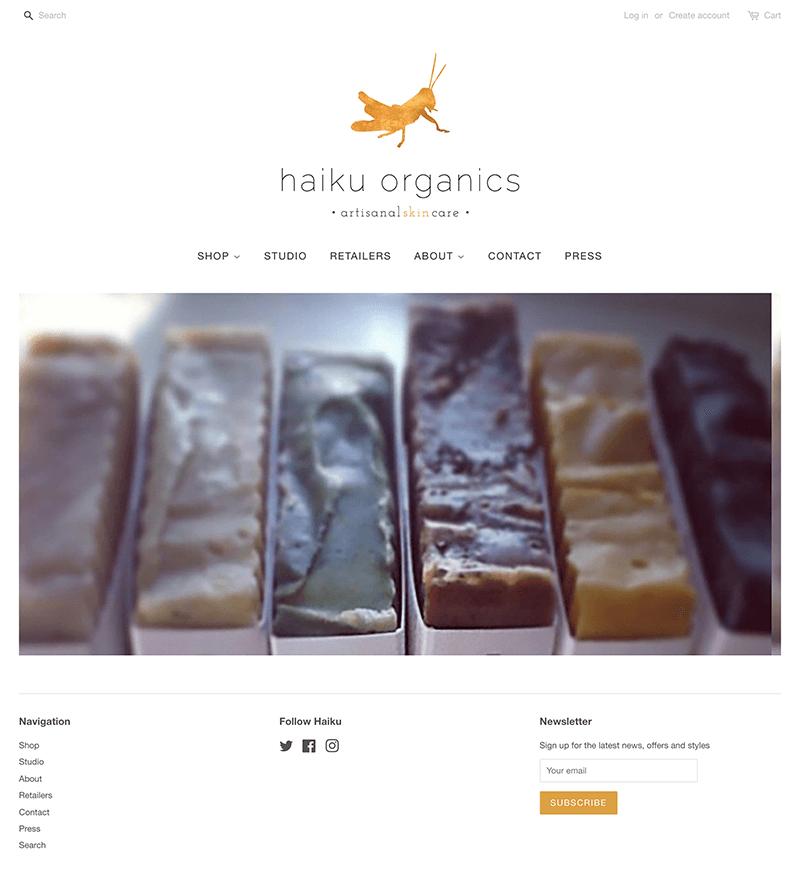 Haiku Organics Shopify Website Design   eWagner Consulting   Boise, Idaho