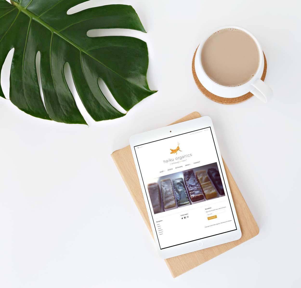 Haiku Organics Skincare Website | Shopify Web Design | Boise, Idaho | eWagner