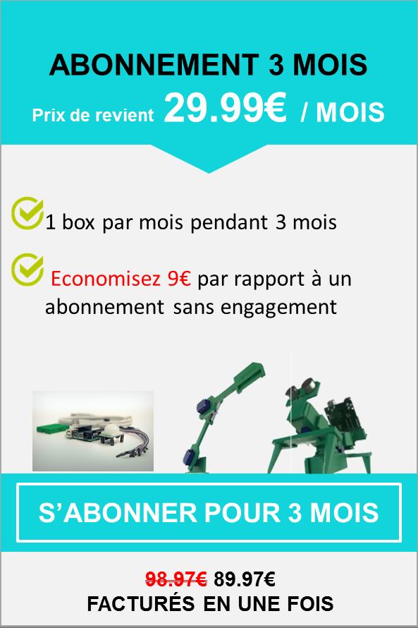 Abonnement kit robotique engagement 3 mois