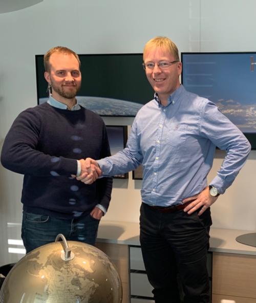 Yxney CEO Gjord Simen Sanna (left) and UniSea CEO Kurt Roar Vilhelmsen