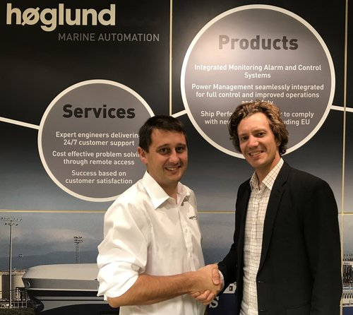 Aleksander Beckmann, aftermarket sales and services manager at  Høglund , and Sindre Stemshaug Bornstein, CCO at  Yxney  Maritime.