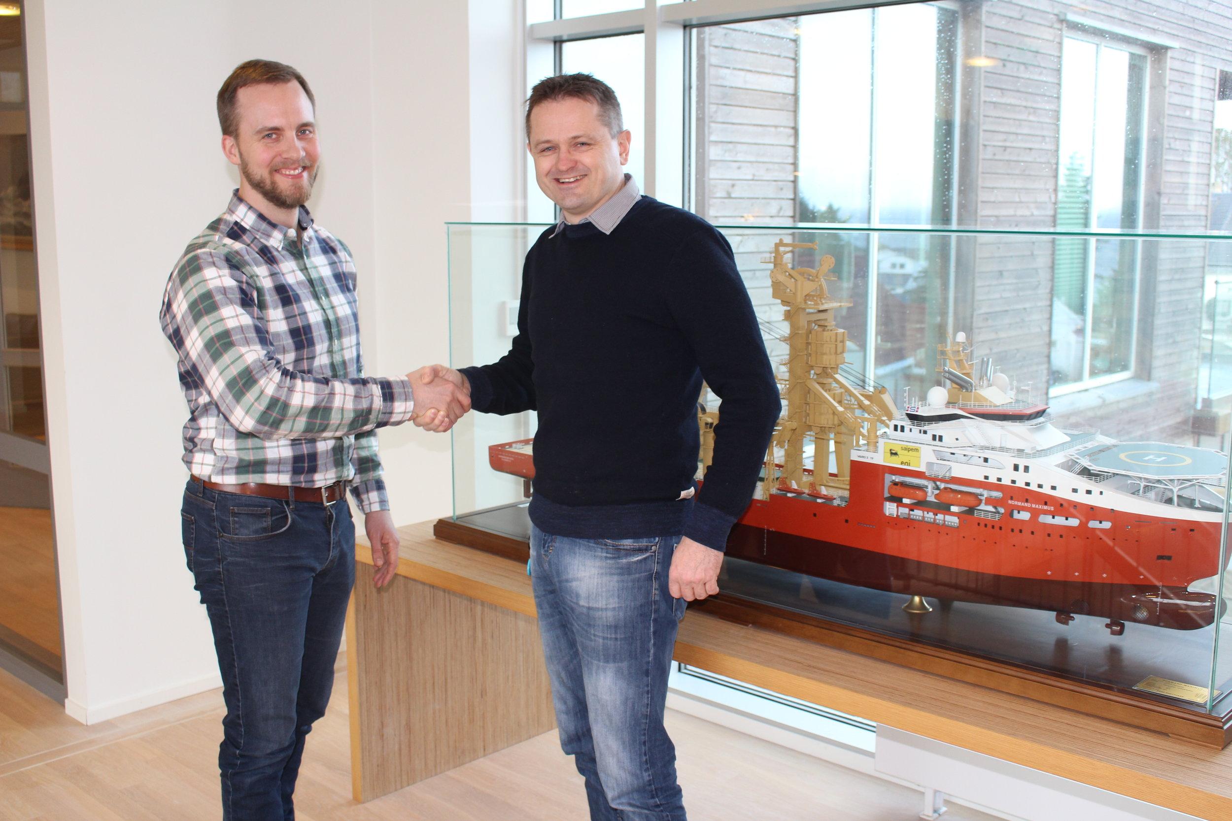 Gjord Simen Sanna, CEO, Yxney Maritime AS (left) and Svein Erik Isaksen, Environmental Engineer (right)