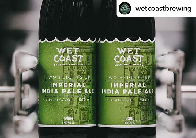I couldn't be prouder of these bottles from @wetcoastbrewing ! I had a blast designing them and creating the linoleum cut art for them. More to come soon!  #wabeer #craftbeer #indiebeer #twoflightsup #imperialipa #beerlabels