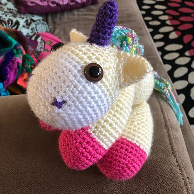 A happy unicorn for a happy customer! #crochet #unicorn