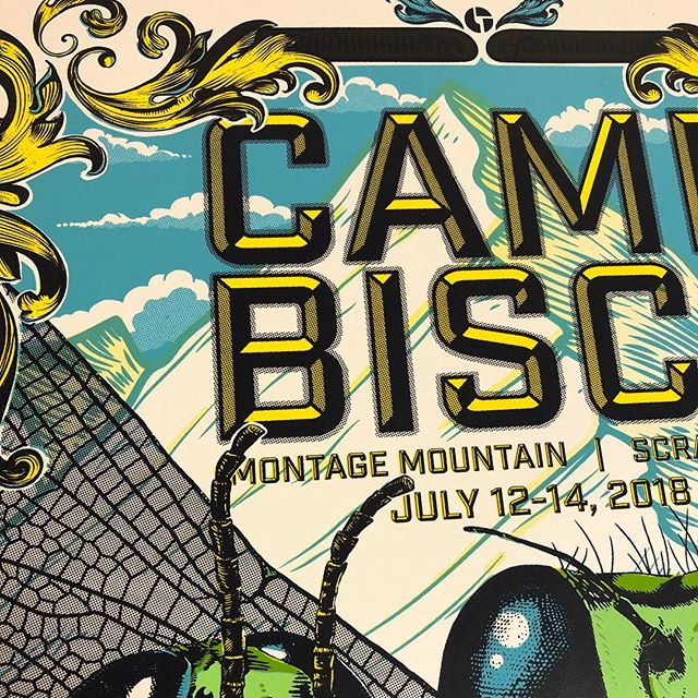 I still have some AP signed Camp Bisco posters available! A few on white and only 1 or 2 on foil left. #posterart #musicposter #campbisco