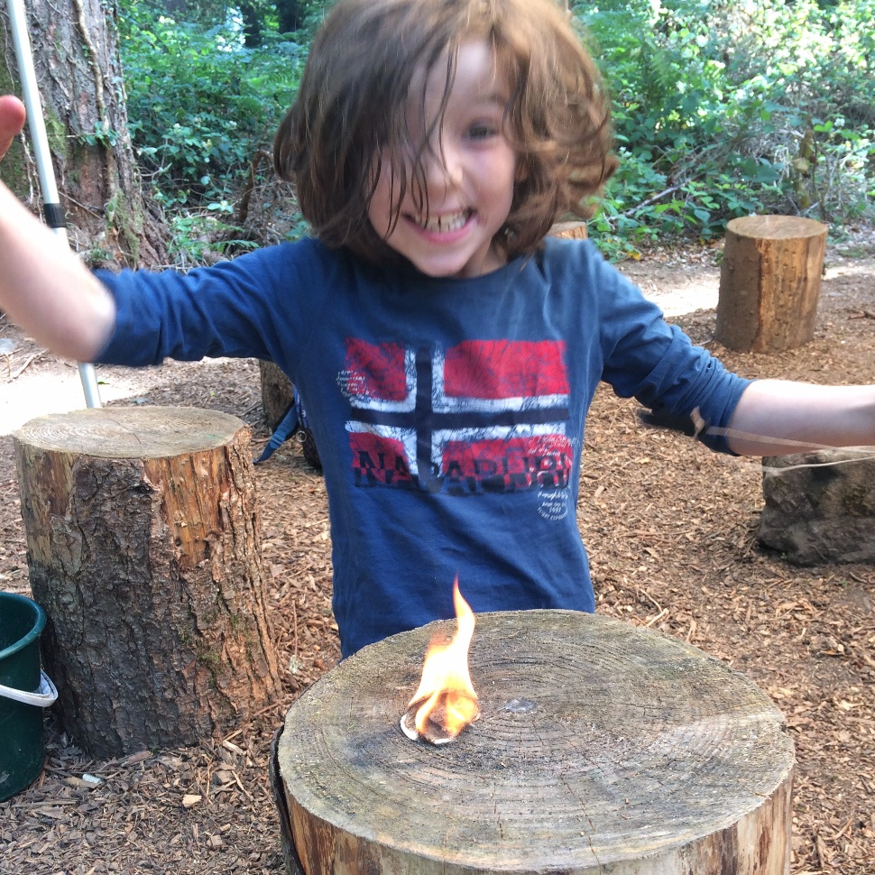 Camp Fire - Learn how to light your own camp fire from scratch using flint.