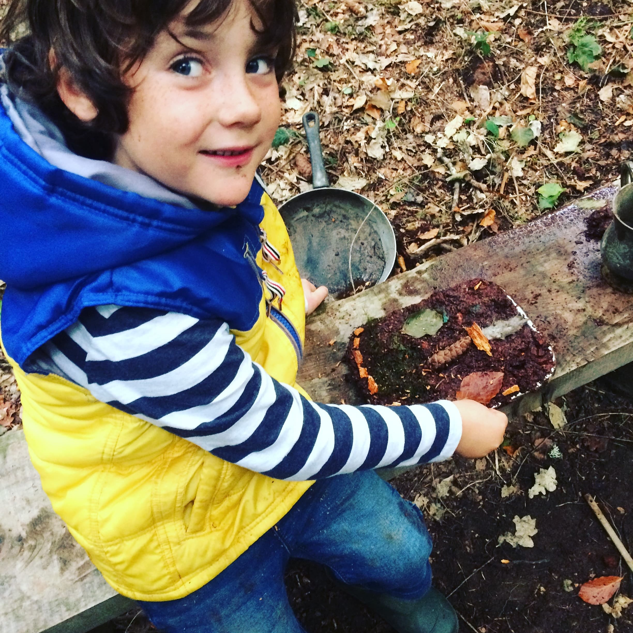Creative Play - Make your own mud pies, pine needle soup or whatever you want! in the mud kitchen.