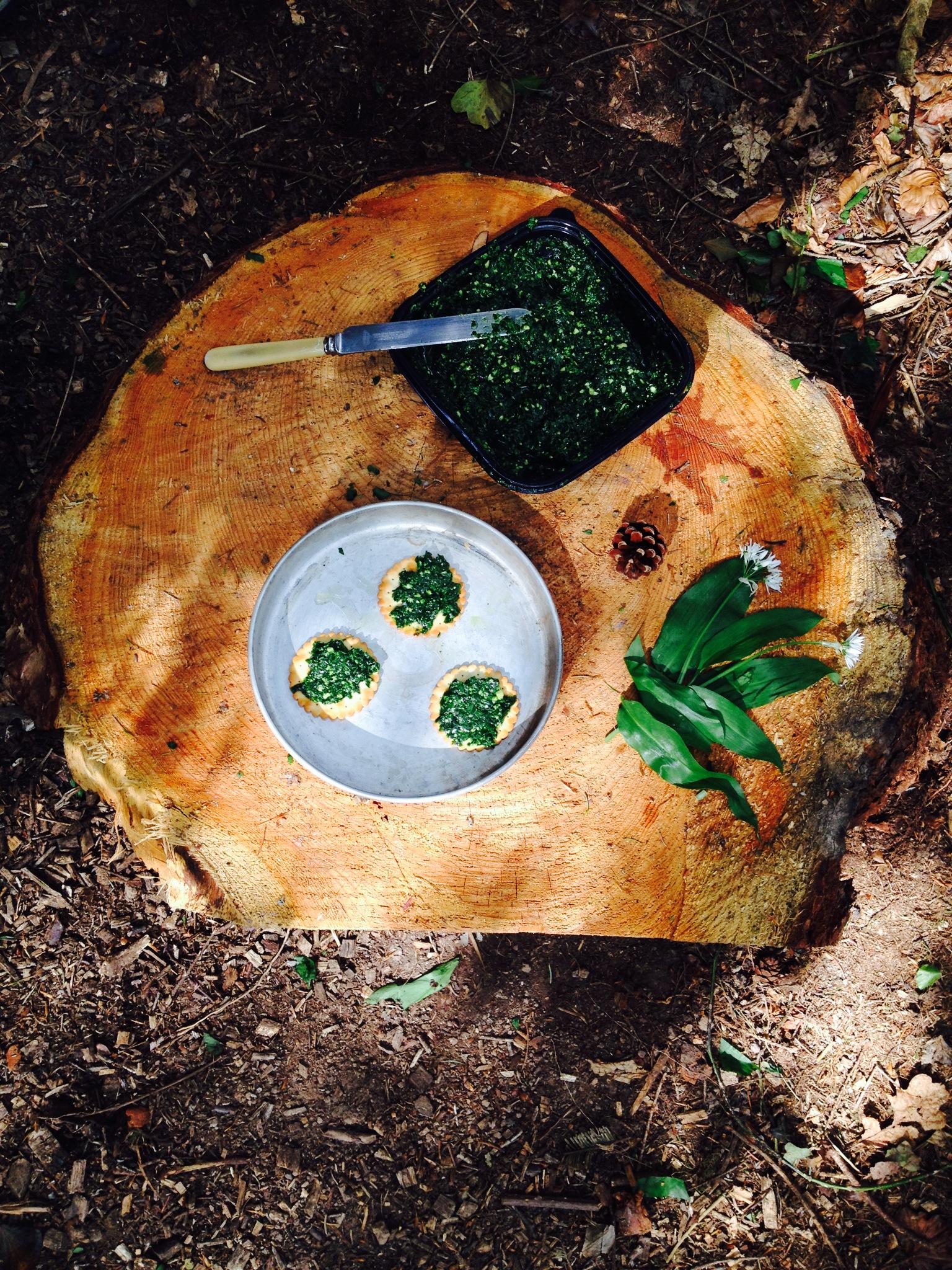 Wild garlic pesto made at The Forest Club