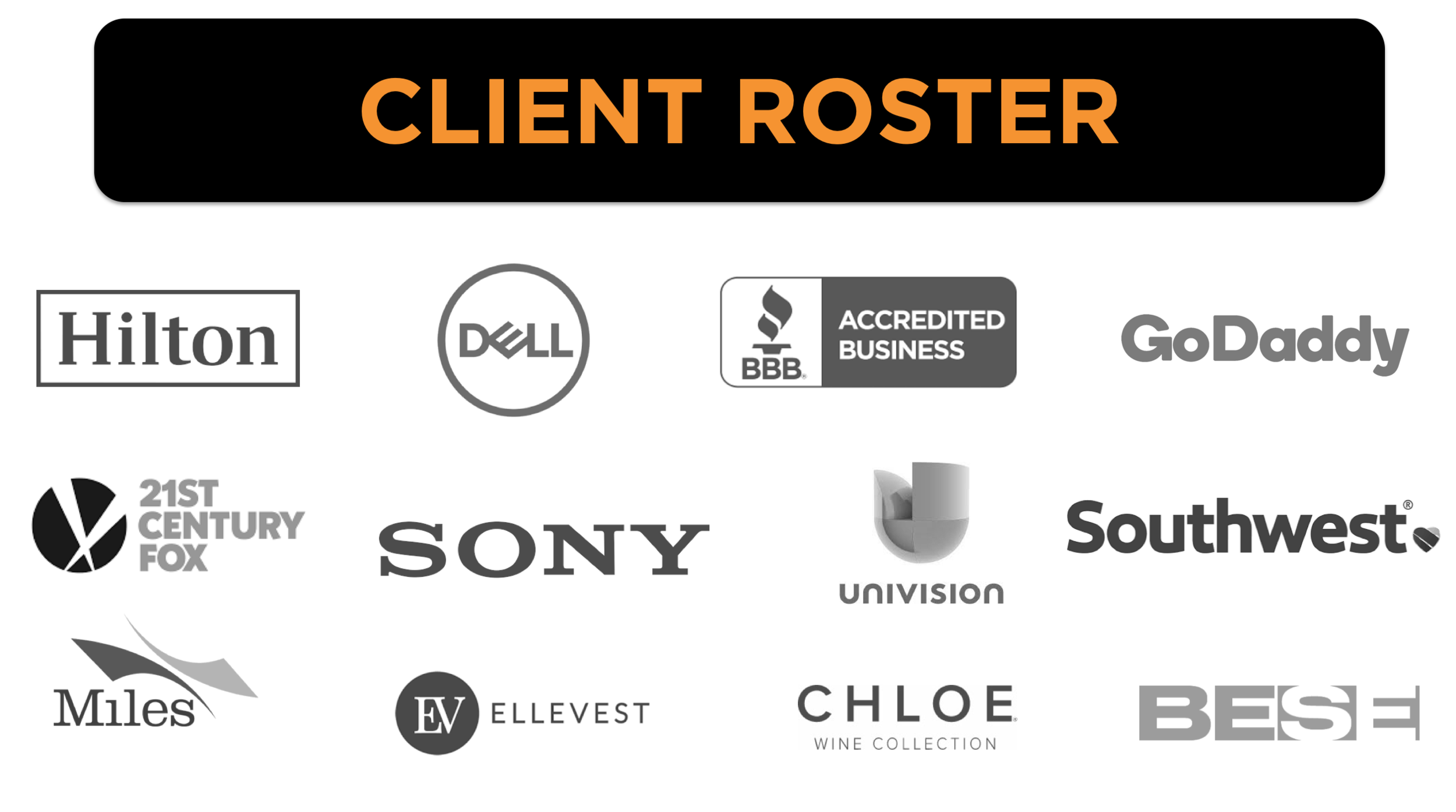 Audience Awards Client Roster