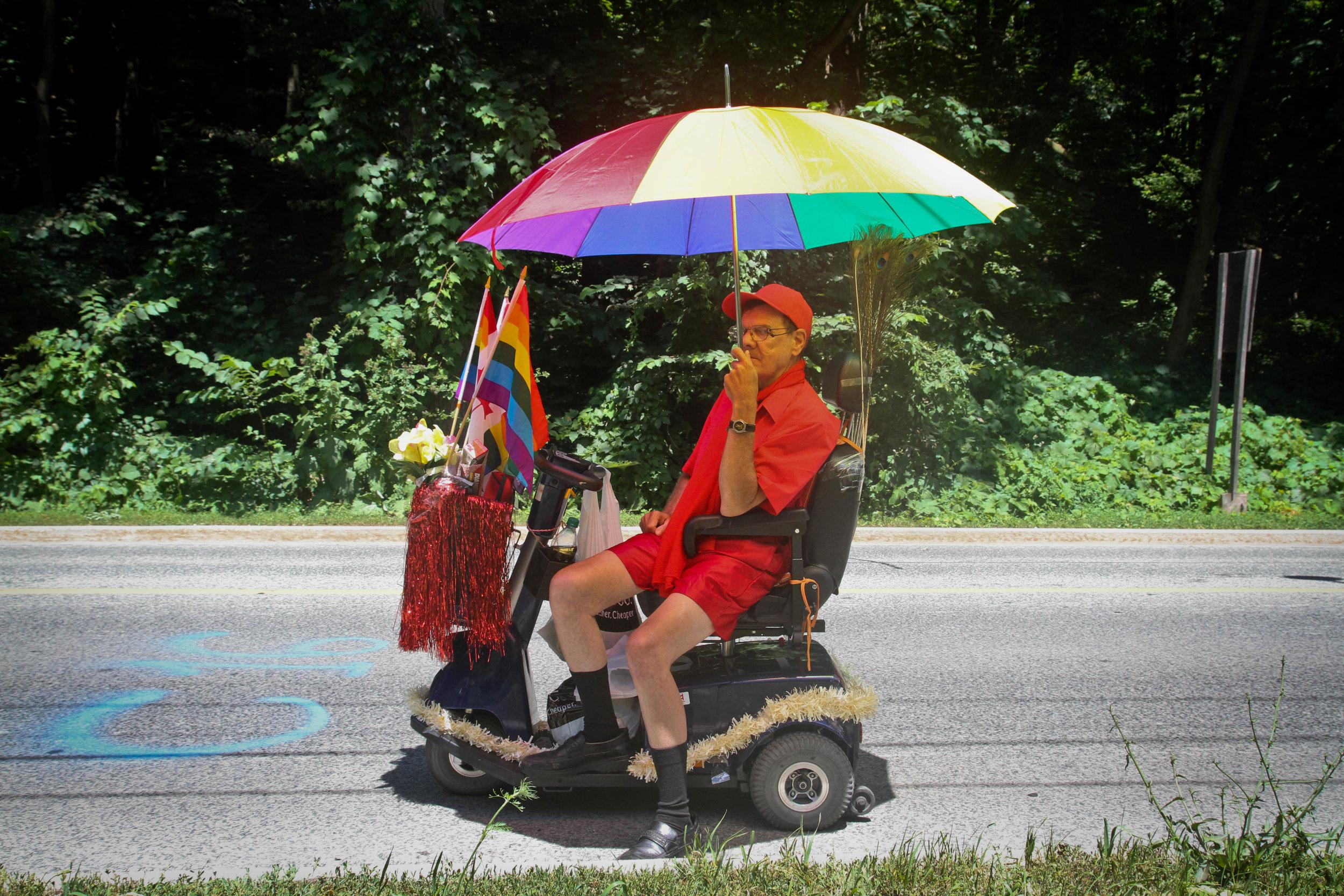 Marcher in Toronto Pride Parade