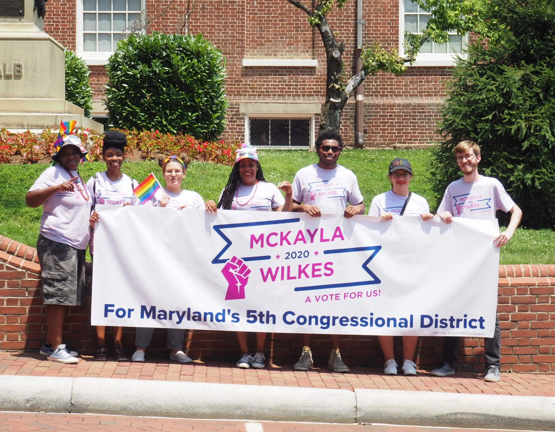 Campaign team at Annapolis Pride 2019