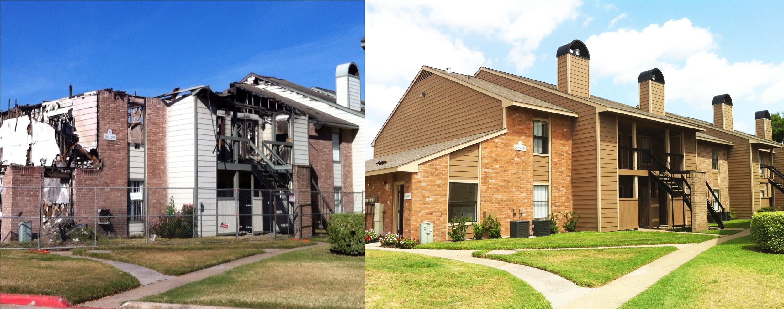 Camden Station Apartment Homes   - Houston, TX Fire Reconstruction