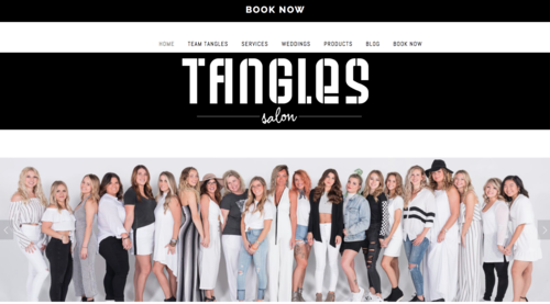 SALON View:   Tangles Salon