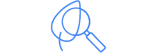 An icon of a magnifying glass positioned over a leaf representing the power of auto-tagged field reports.
