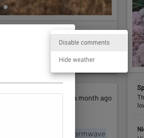 4. Other options are available when clicking the three dots in the top right corner.