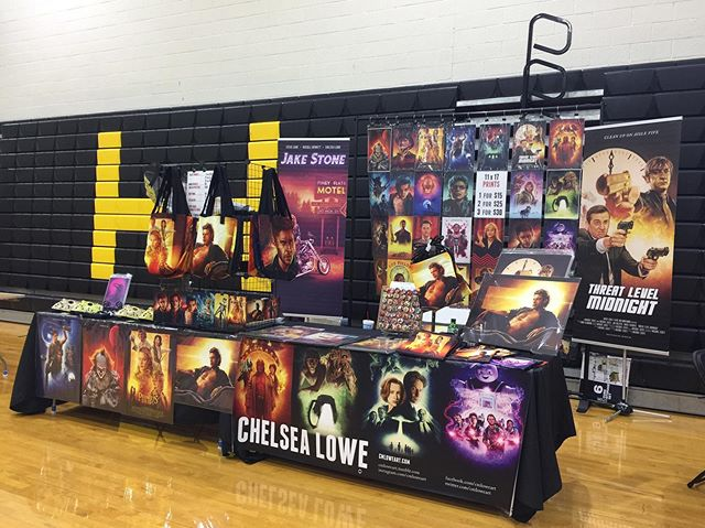 Today I'm in Lincolnton, NC for Be a Hero Lincolnton Comic Con! Come by and get all your sexy Jeff Goldblum needs! ;) #artistalley #art #artist #conlife #artwork #artprints