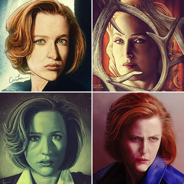 Wishing a very Happy Birthday to my favorite actress, @gilliana!! I've probably drawn her more than I have any other celebrity lol. Here are my favorite pieces I've done. ❤️ #gilliananderson #thexfiles #hannibal #danascully #bedeliadumaurier #art #artist #artwork #digitalart #digitalpainting #illustration