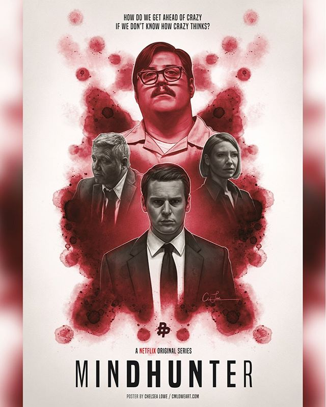 @mindhunter season 2 releases today on Netflix!!! Who's already binged it?! lol  I watched the first 5 episodes this morning and I am LOVING it so far. Unfortunately I'll likely have to wait until next week to finish the season. I've got AlienXpo, and I also have to sketch some concepts for a very cool thing I can't talk about.  Anyway, here's my Mindhunter poster that I created back in the spring. I'm soo excited to finish watching it! The anticipation is driving me crazy. 😆  #mindhunter #mindhunterseason2 #mindhunternetflix #jonathangroff #holtmccallany #annatorv #cameronbritton #truecrime #serialkiller #serialkillers #criminalprofiling #criminalpsychology #holdenford #billtench #wendycarr #edkemper #davidfincher