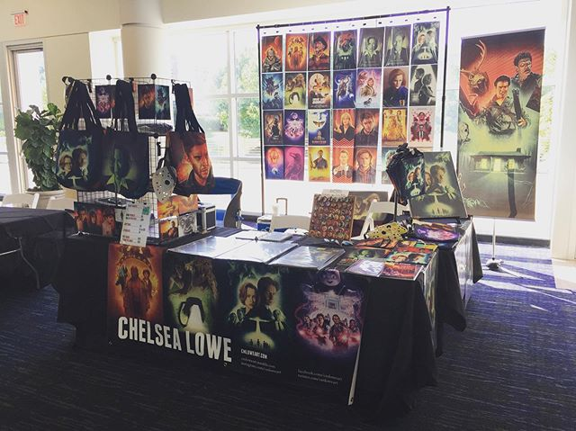 I'm open for Alien Xpo! Come visit me and buy some art!  #alienxpo #artistalley #art #artist #artwork #thexfiles #knoxville #knoxvilletn