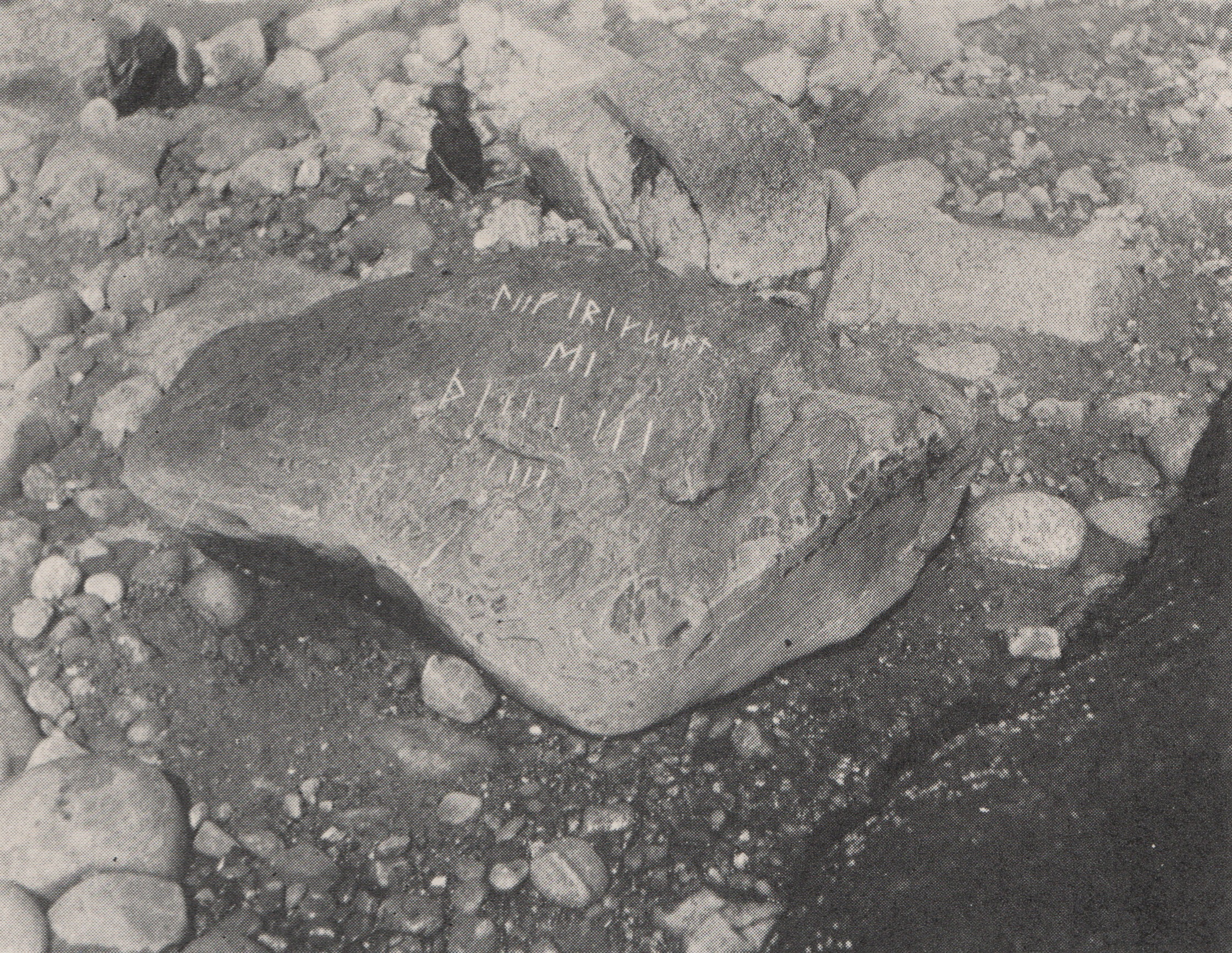 Original Norse inscription discovered on the Southwestern shore of Nomans Island.