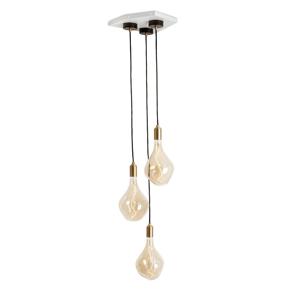 Tala Voronoi II Brass Pendant