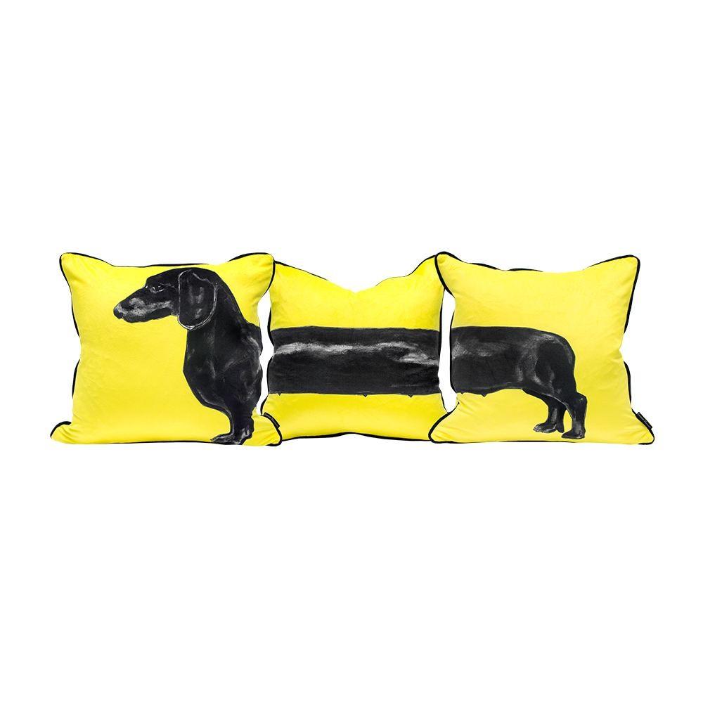 Jimmie Martin Susage Dog Cushion Set