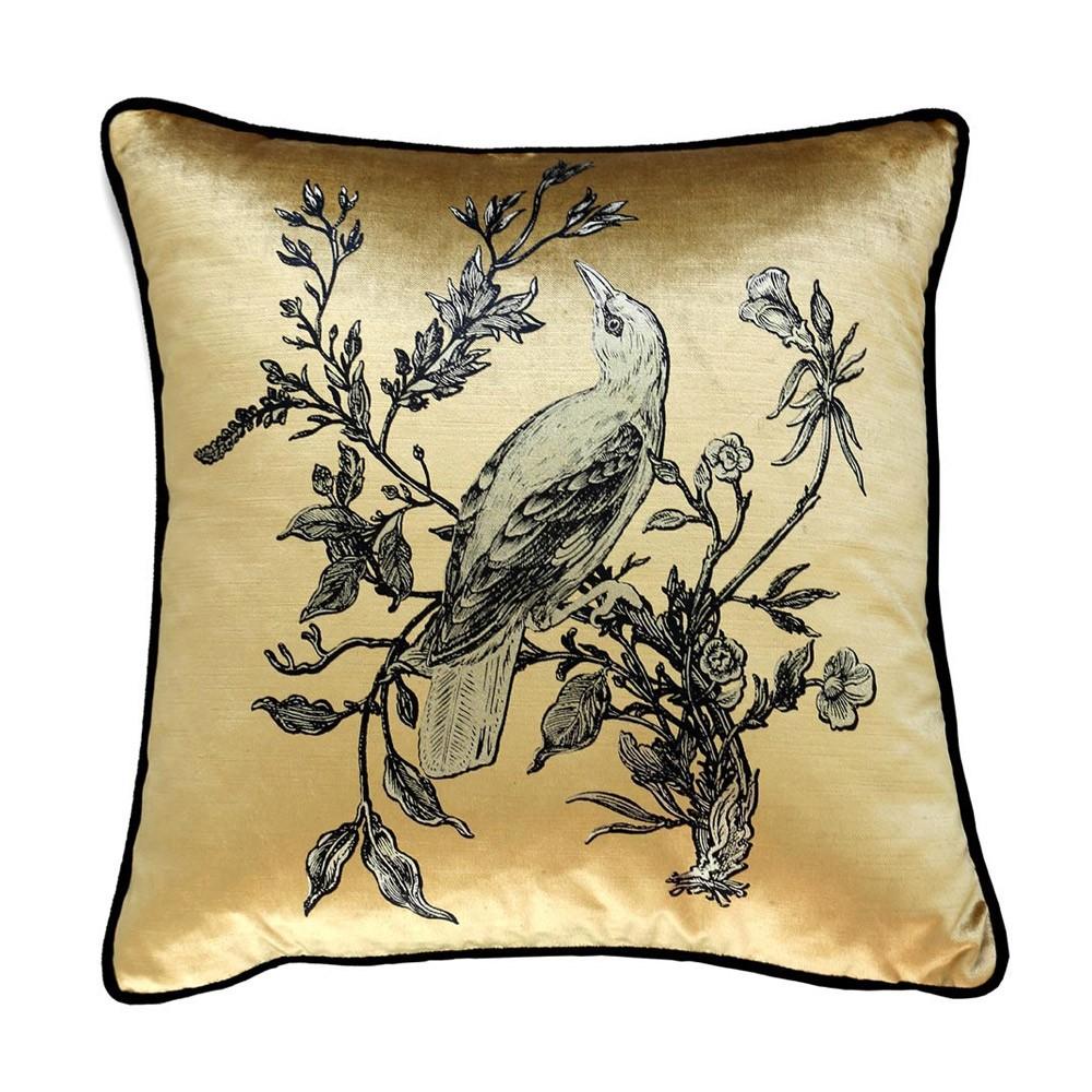 Timorous Beasties Golden Oriole Cushion