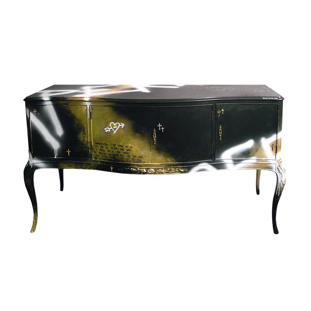 Jimmie Martin Imperfection Gold Black Sideboard