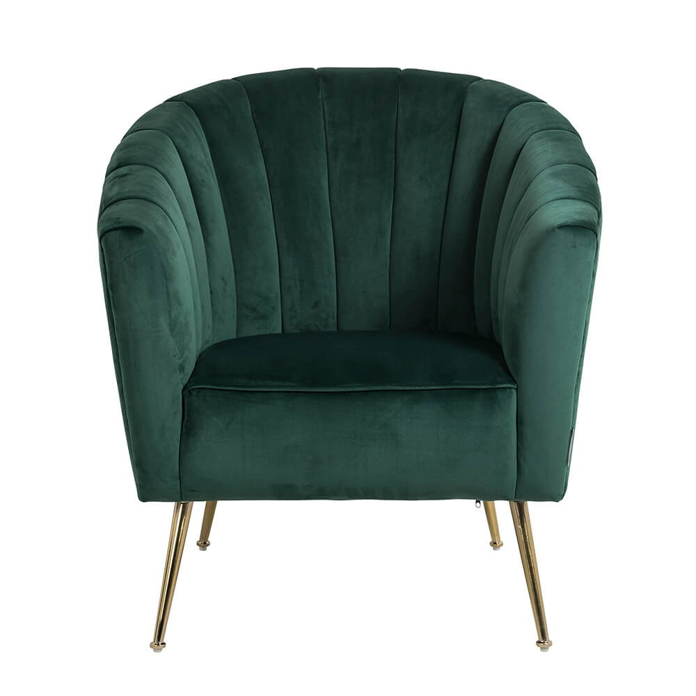 Houseology Collection Shelly Green Velvet Chair