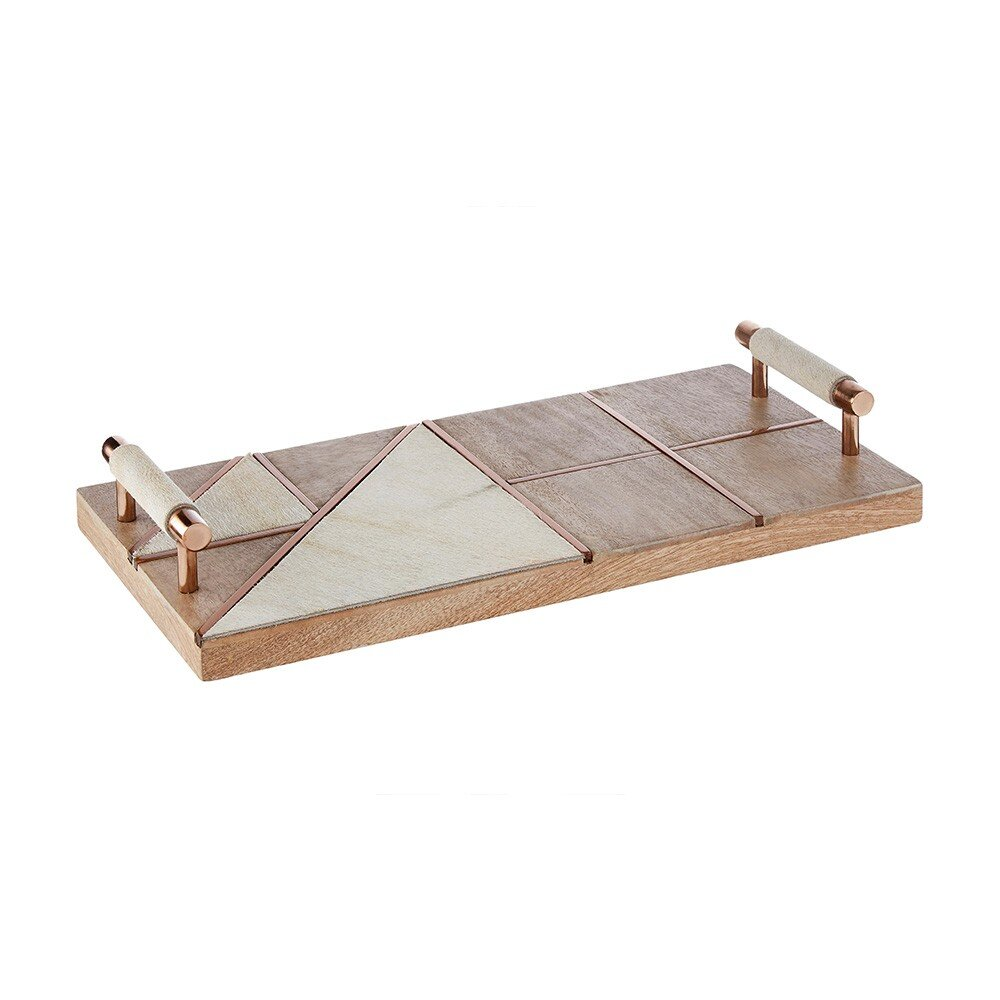 Houseology Collection Grained Cowhide Serving Tray