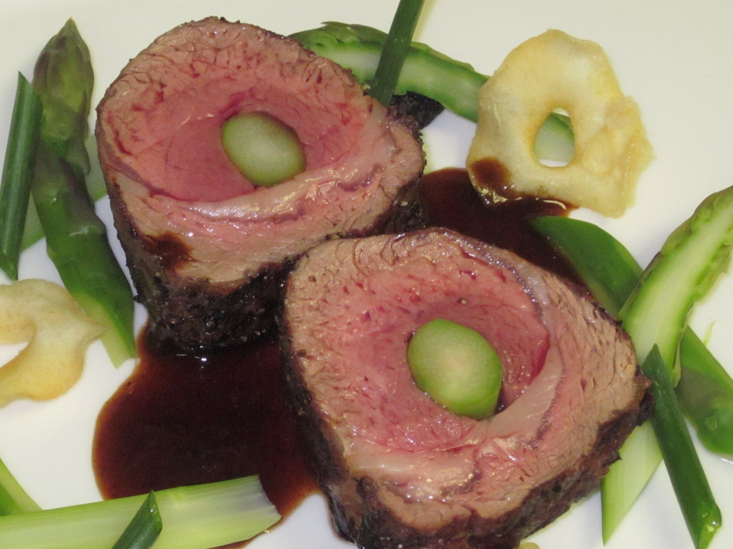Asparagus Filled Rosen Lamb Loin