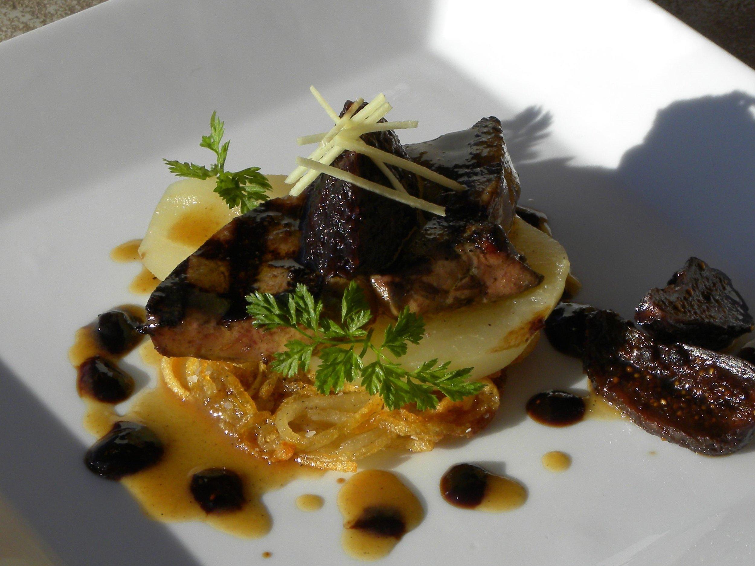 Foie Gras, Poached Pear, Rosti Potato