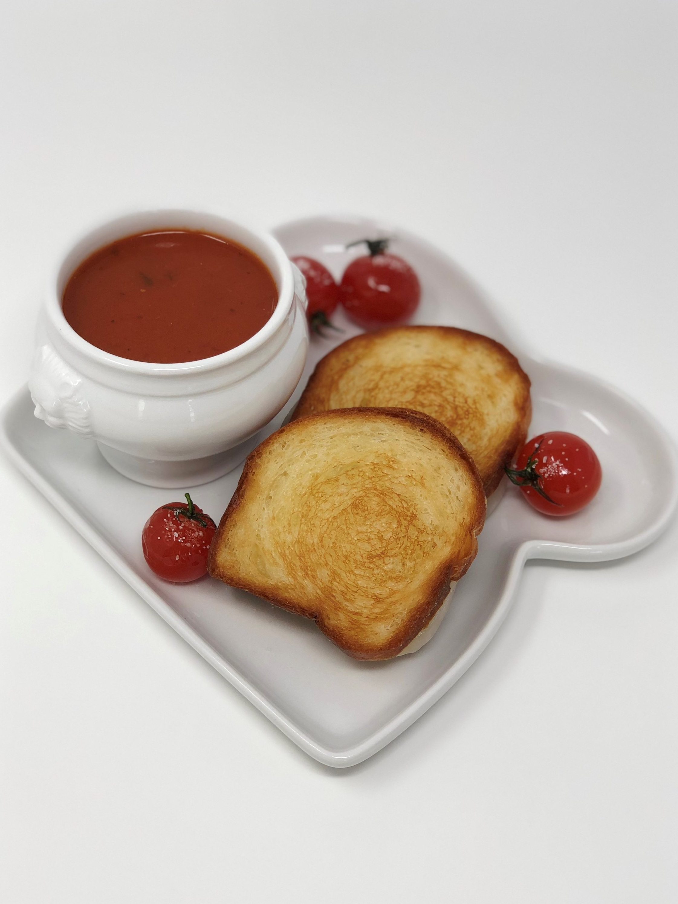 Tomato & Basil Soup with Truffled Grilled Cheese Sandwich