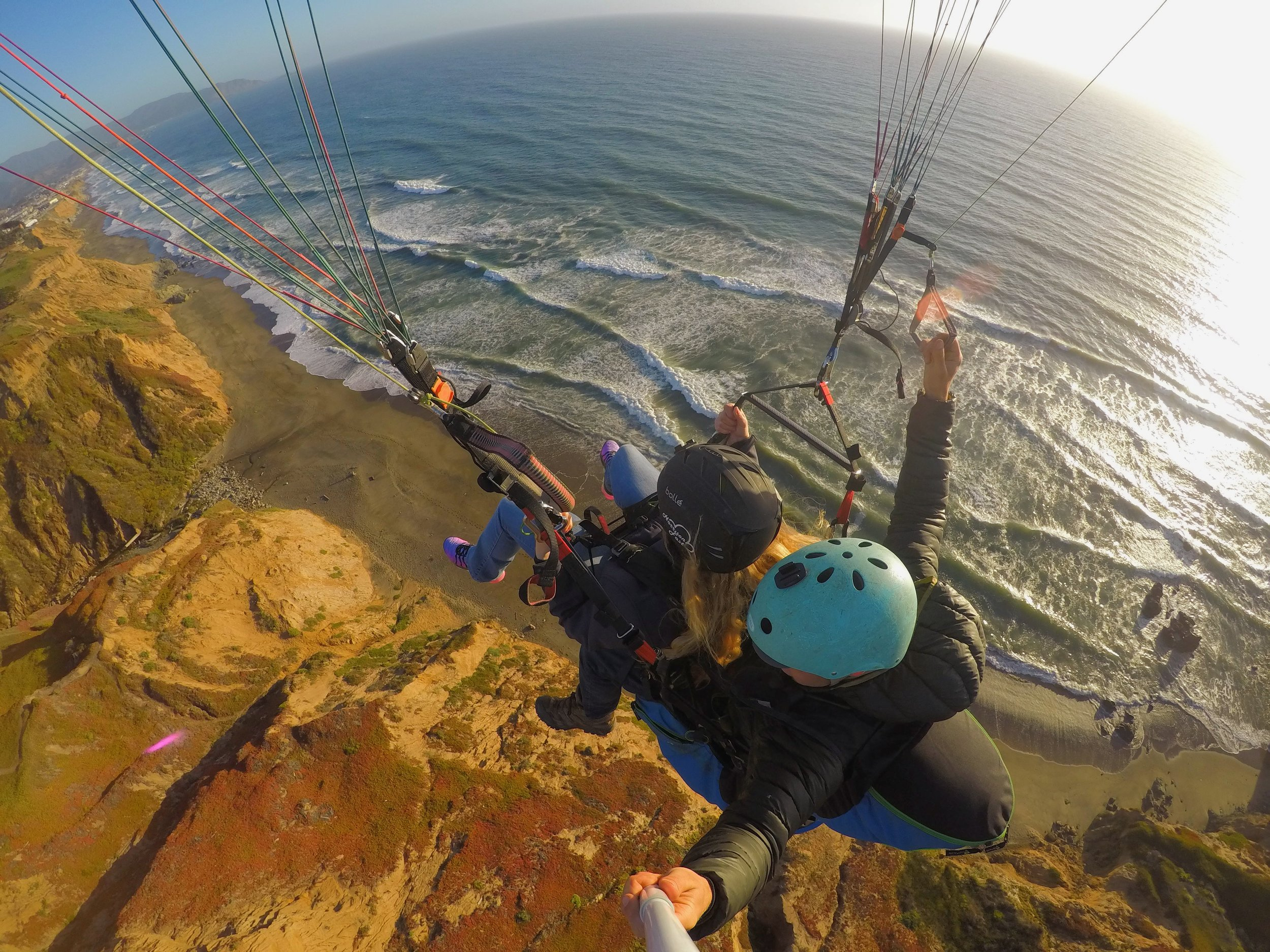 - Paragliding down the coast in San Francisco