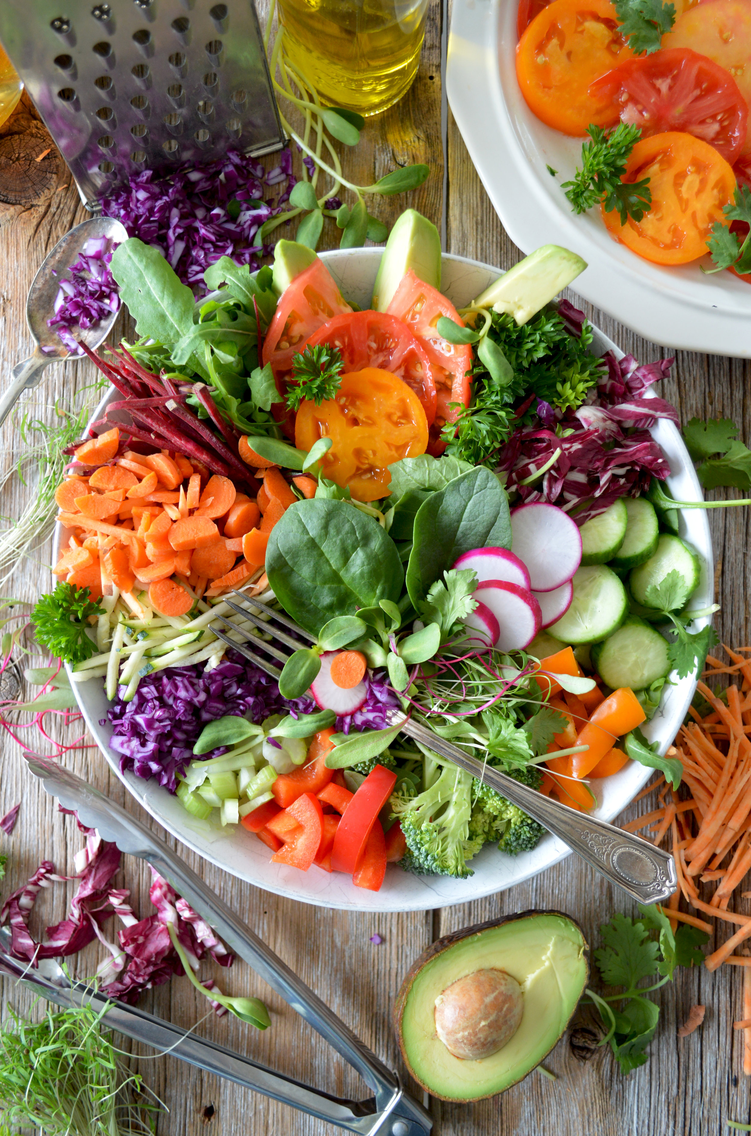 Mmm. Delicious fresh salads are a must!