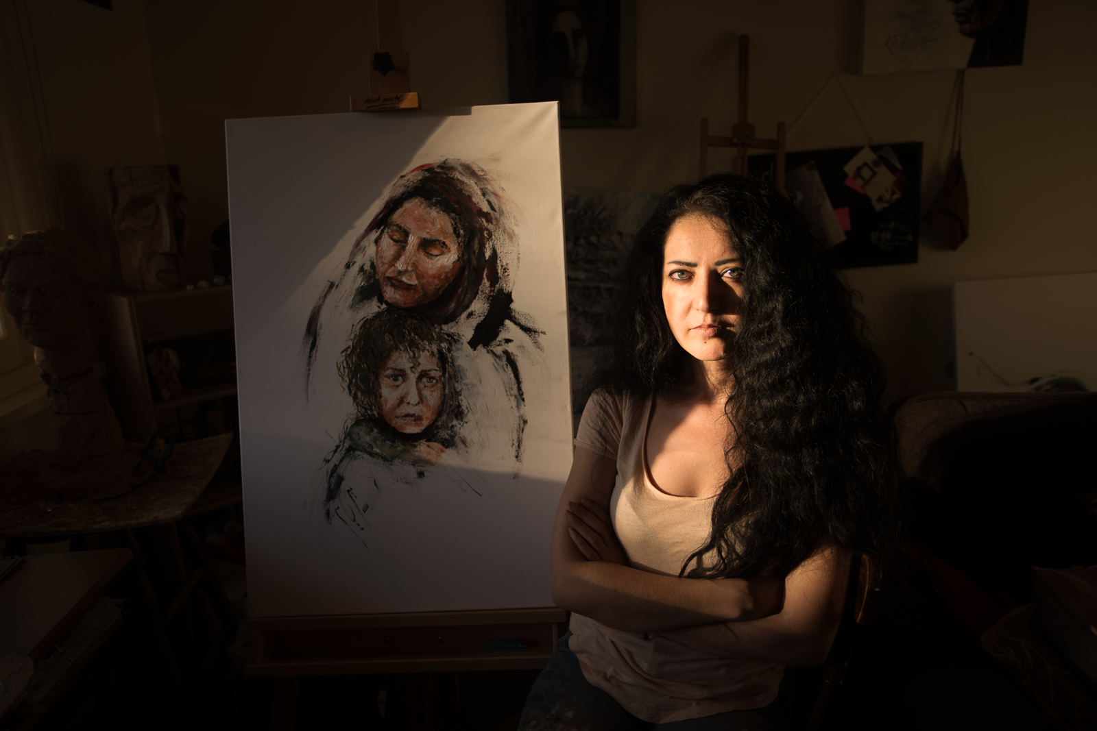 PAINTING SYRIA - VIDEO PORTRAIT OF AN SYRIAN ARTIST