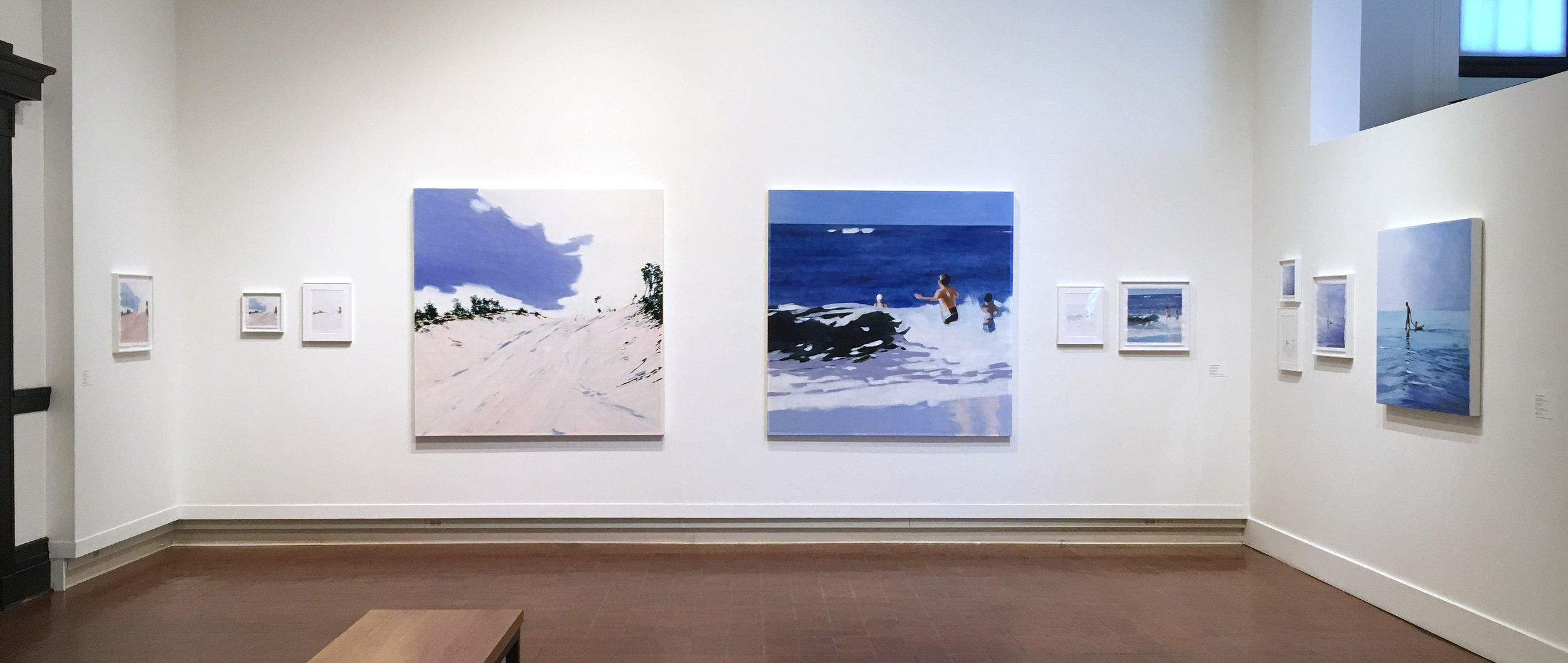 "Isca Greenfield-Sanders' artwork in ""Ocean's Edge"" installation view, photo credit Erin Jenkins"