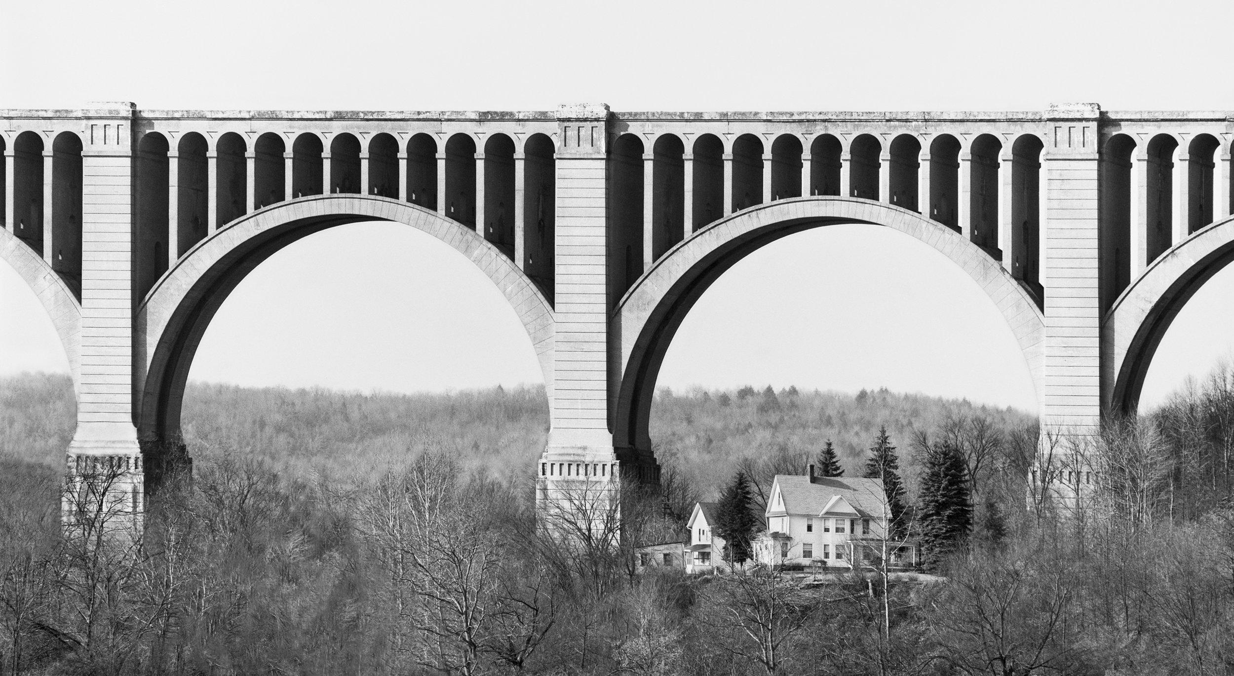 "David Plowden, ""The Tunkhannock Viaduct, Nicholson, PA"" (1973), photograph, 9.5 x 17.5 inches"