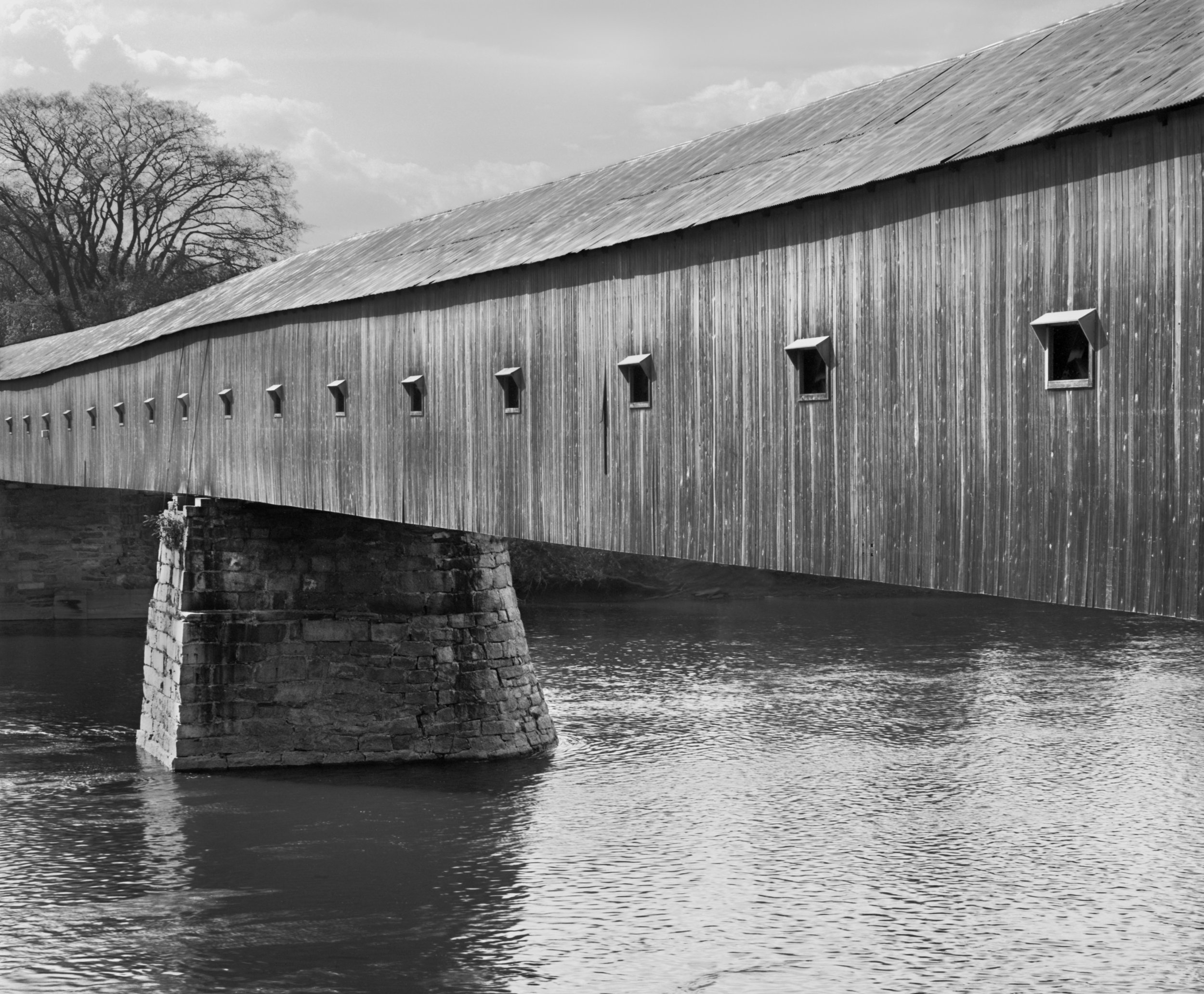 "David Plowden ""The Windsor Bridge, Connecticut River, Windsor, VT"" (1967), photograph, 11 x 13.5 inches"