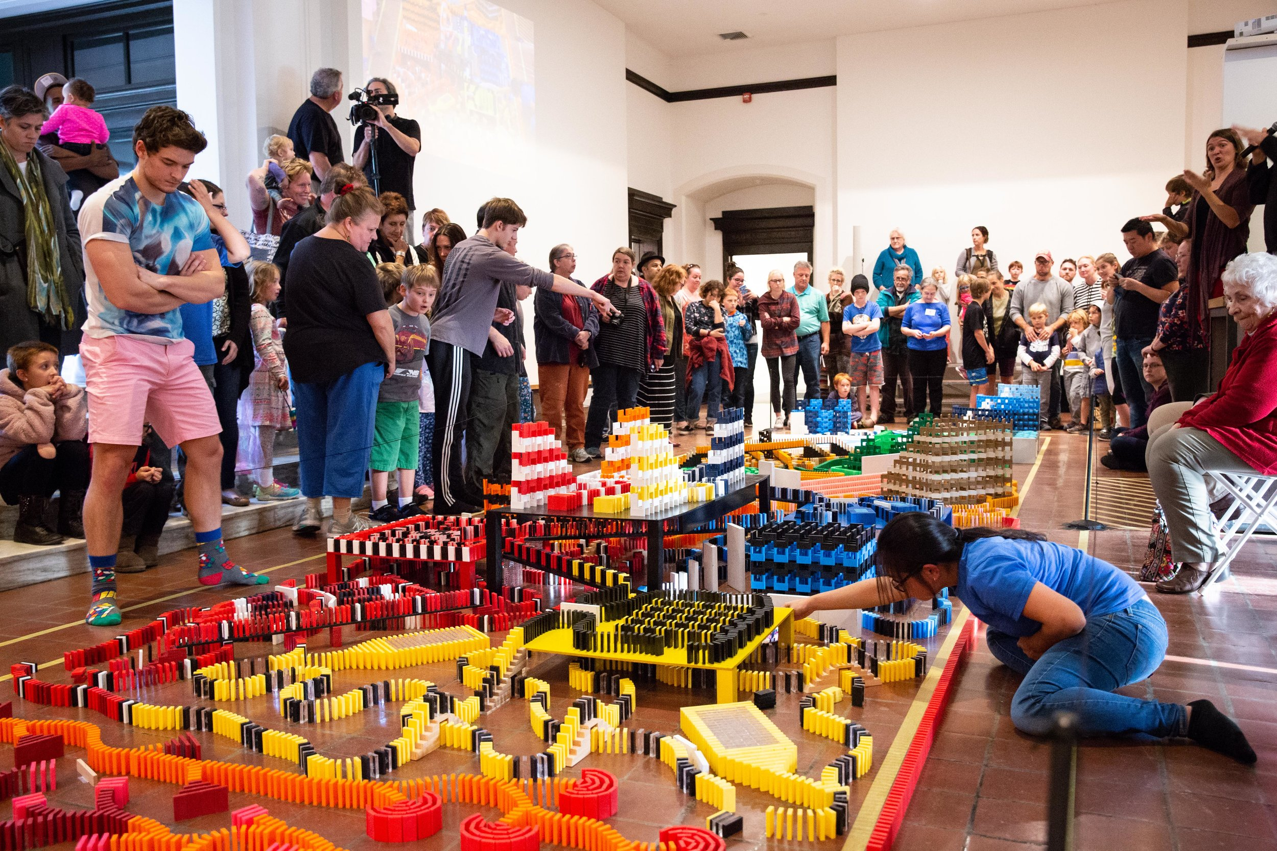 BMAC's 11th Annual Domino Toppling Extravaganza, 2018. Photo credit: Michelle Frehsee