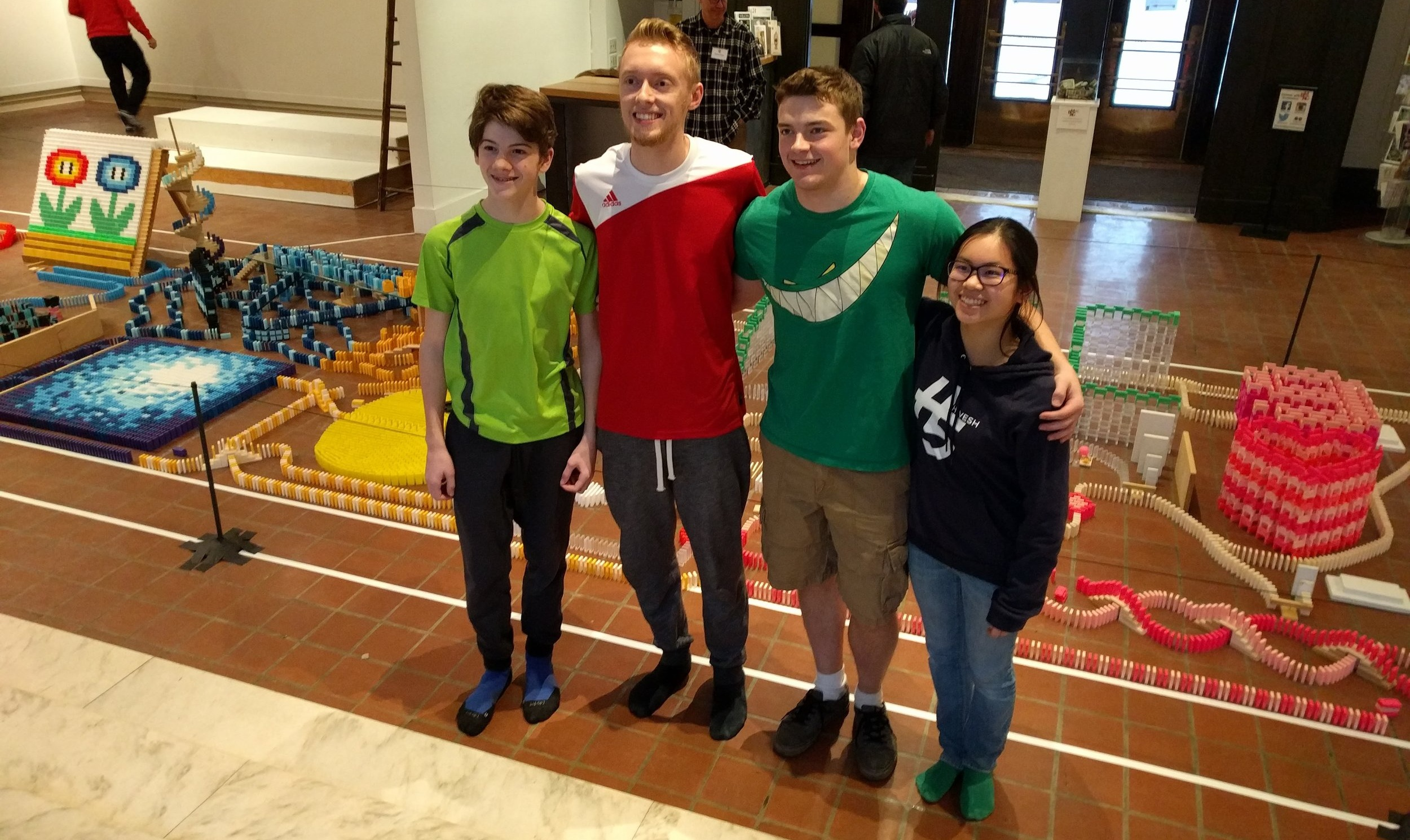The domino artists from BMAC's 9th Annual Domino Toppling, 2016